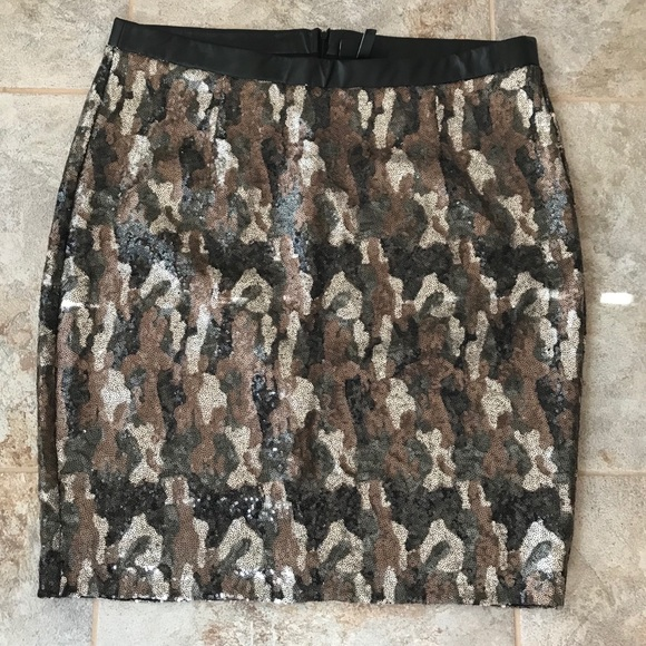 c8ec1caf009a1 Lane Bryant Skirts | Plus Size Sequin Camo Skirt Sz 22 | Poshmark